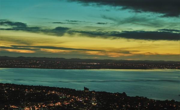 Pôr do sol visto da Sky Tower