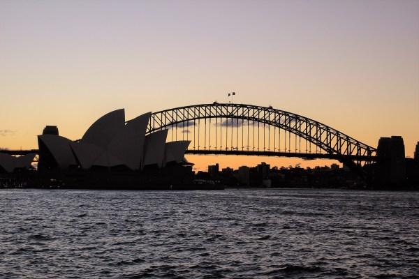 sunset in Royal Botanic Garden, Sydney