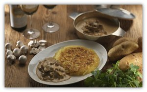Gastronomia Suíça ROSTI e GESCHNETZELTES Imagem www.zeughauskeller.ch