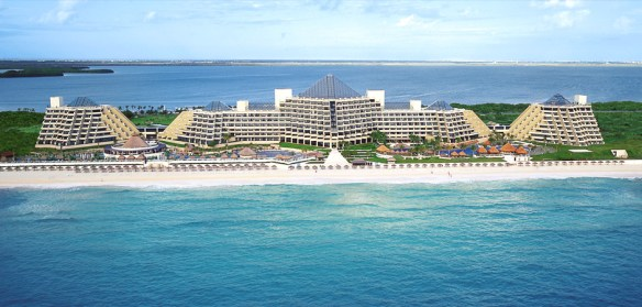Paradisus Cancun aerial view