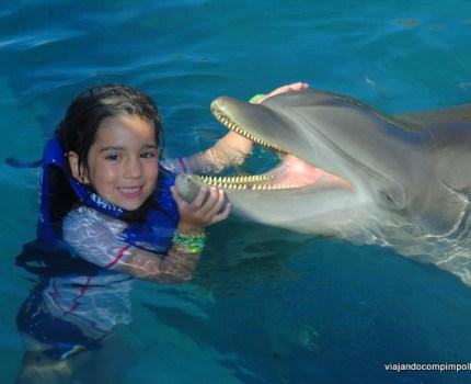 Cancun com crianças: Xcaret, um parque divertido com crianças pequenas.