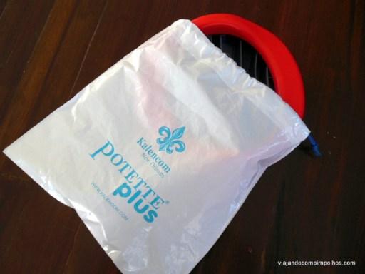 vaso sanitário de viagem Patette Plus