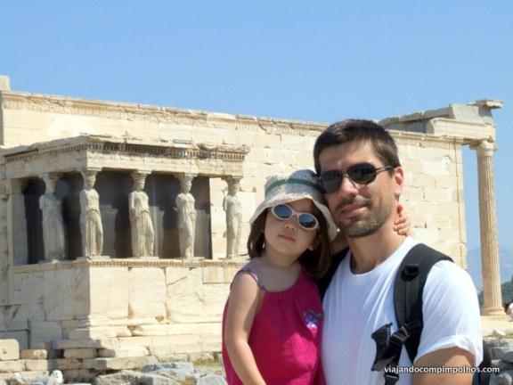 Grécia com crianças