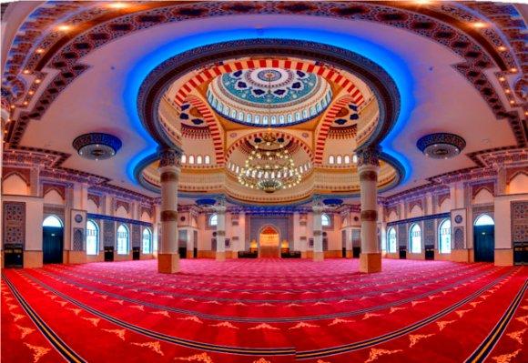 Inside Al Farooq mosque