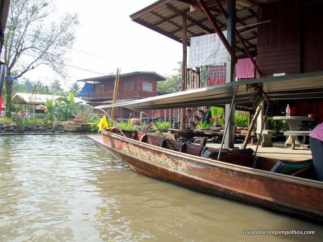 mercado flutuante de Damnoen Saduak