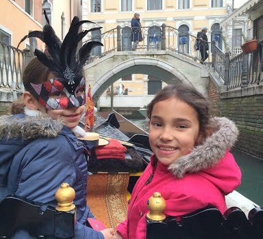 Carnaval em Veneza com crianças