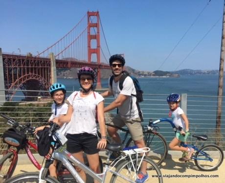 Bike the bridge: o passeio de bike que atravessa a Golden Gate.