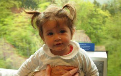Viajando en el tren panorámico Golden Pass, de Lucerna a Brienz con bebé