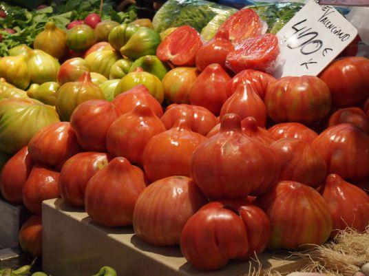 Fruta y verduras mercado central
