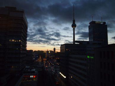 Vistas desde nuestro hotel en Alexandeplatz