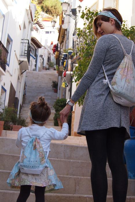 Cosami falda, mochila y turbantes