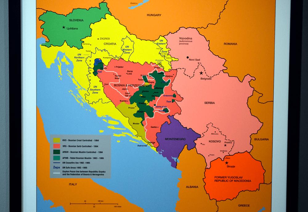Mapa de la Guerra de los Balcanes