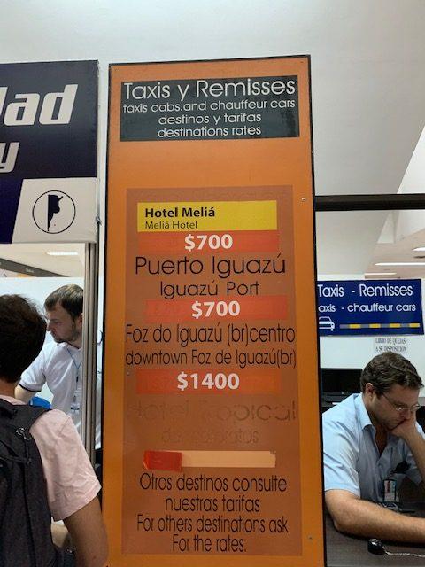 Valor de remisse de Puerto Iguazú para Foz y ahorrar en el pasaje de Argentina a Brasil