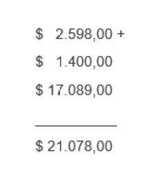 Calculo del total del pasaje comprado por trechos
