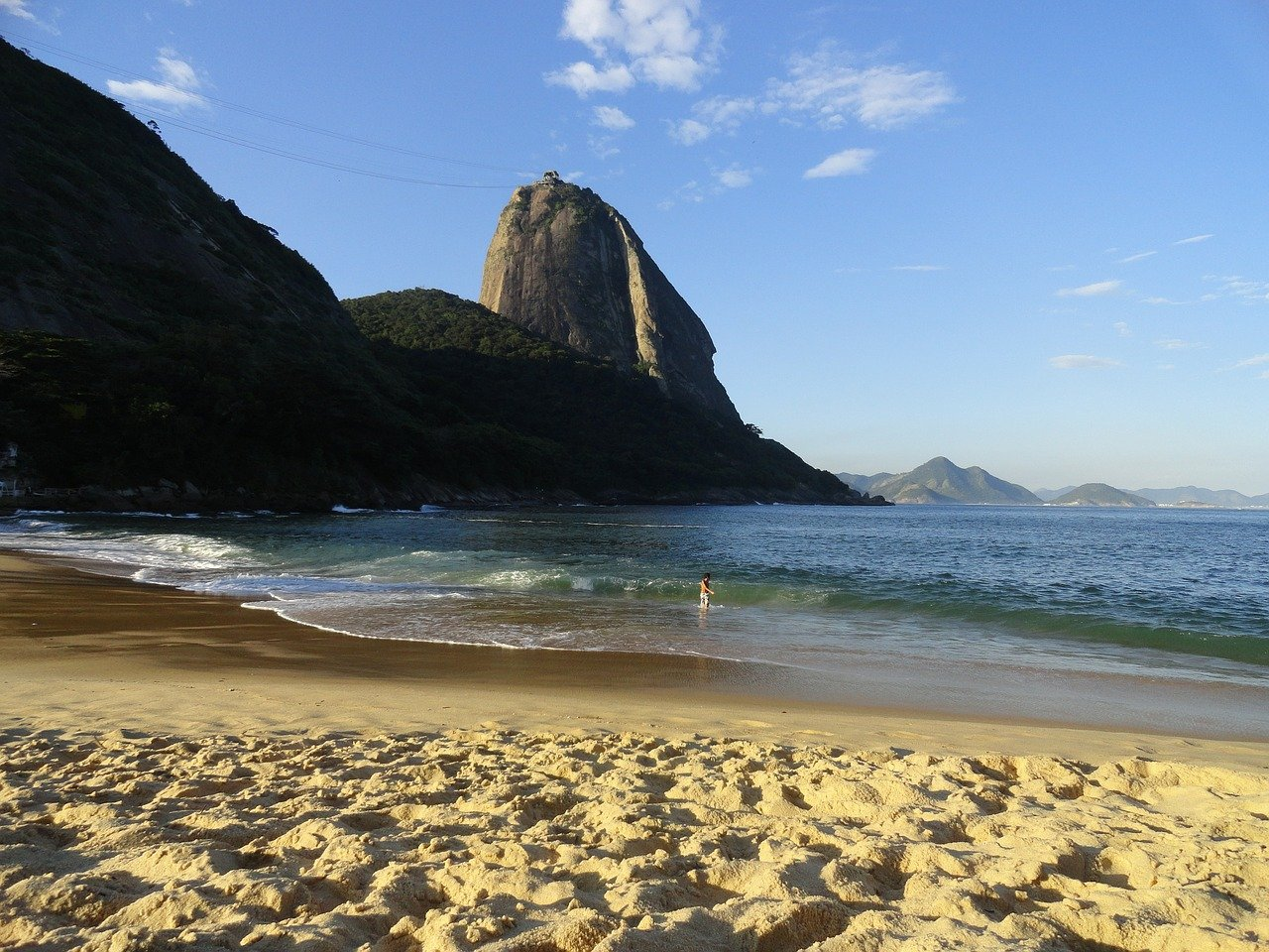 Actividades físicas en la playa de Río de Janeiro