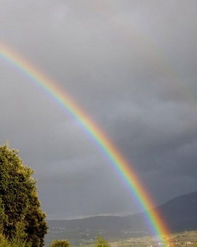 Arco iris en Gargantilla del Lozoya