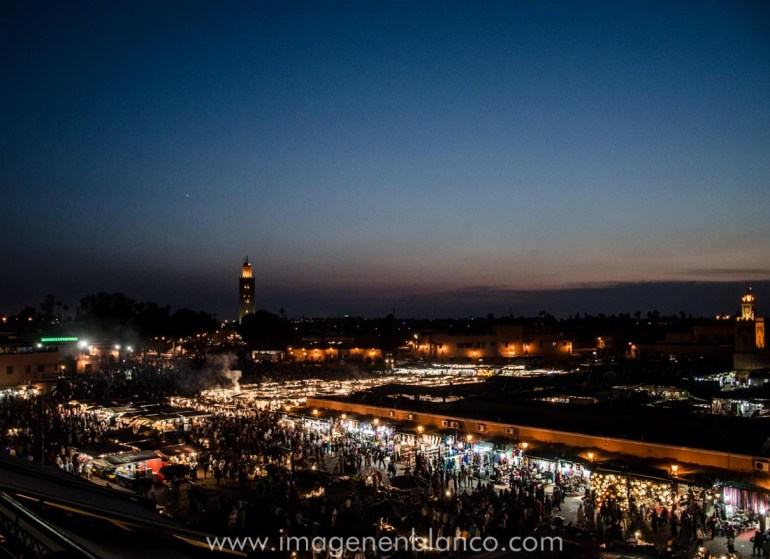 Marrakech Marruecos en furgo