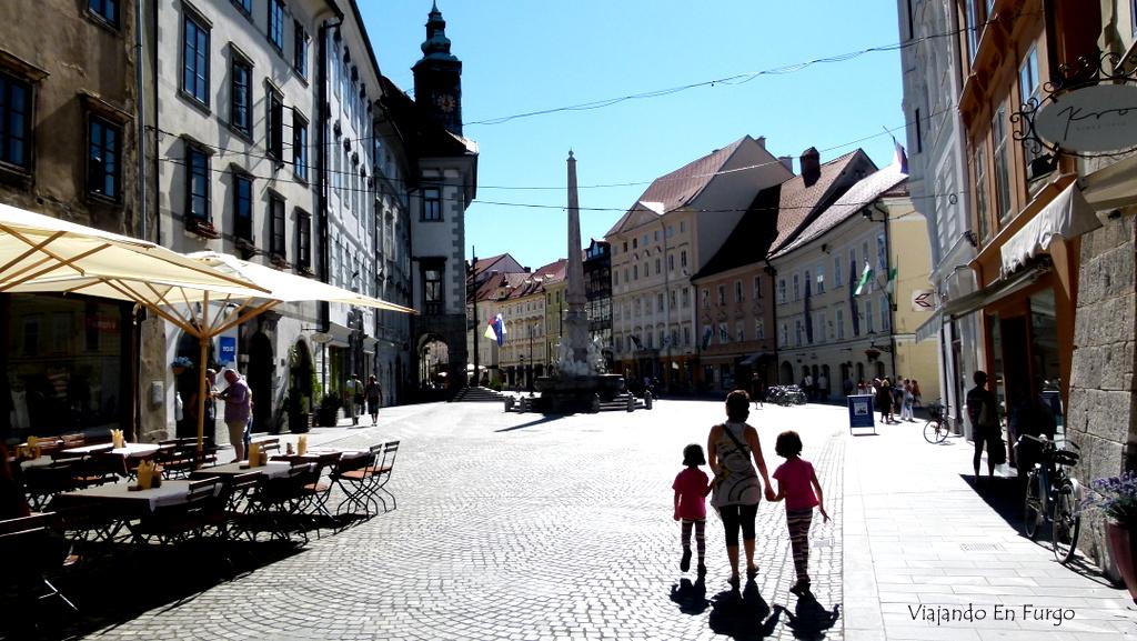 Liubliana Eslovenia en furgo