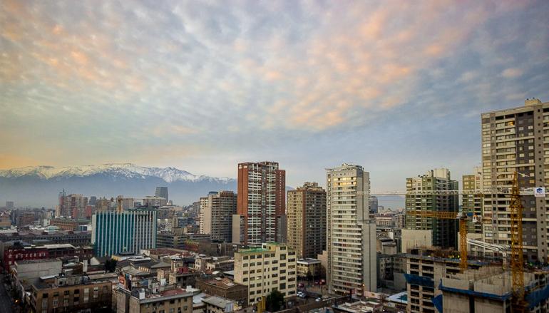 Dia amanhecendo em Santiago