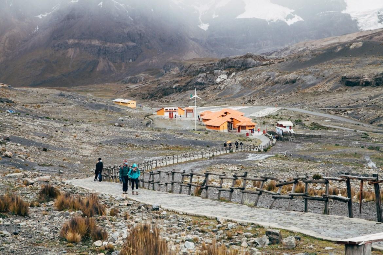 Glaciar Pastoruri: início da trilha