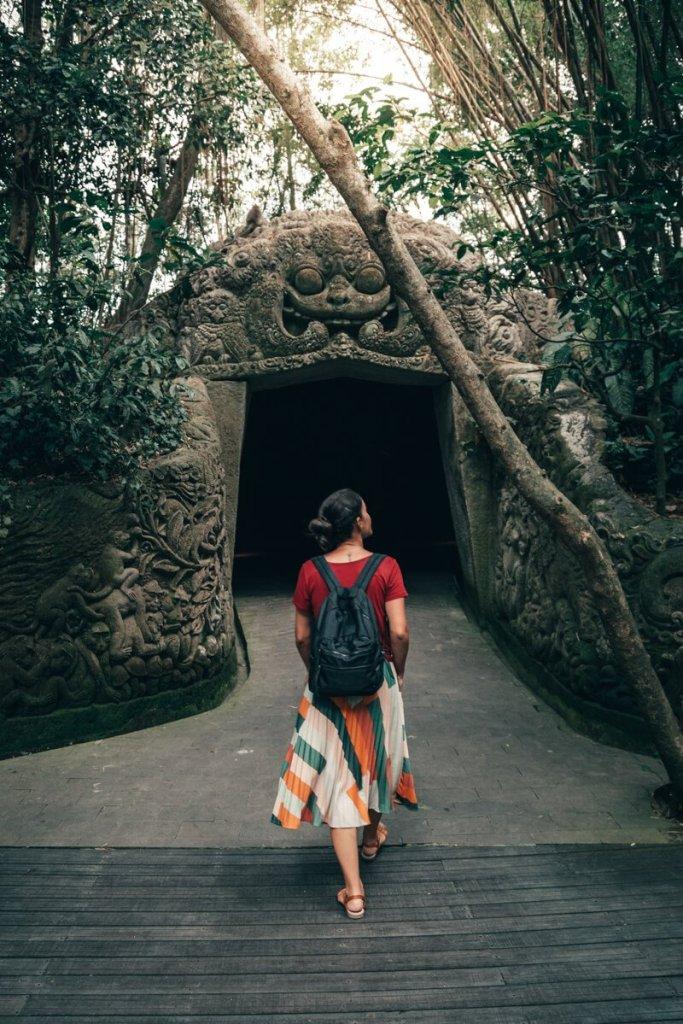 Monkey Forest, Ubud, Bali, entrada