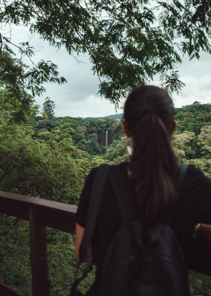 Cassorova Brotas Cachoeira vista do mirante