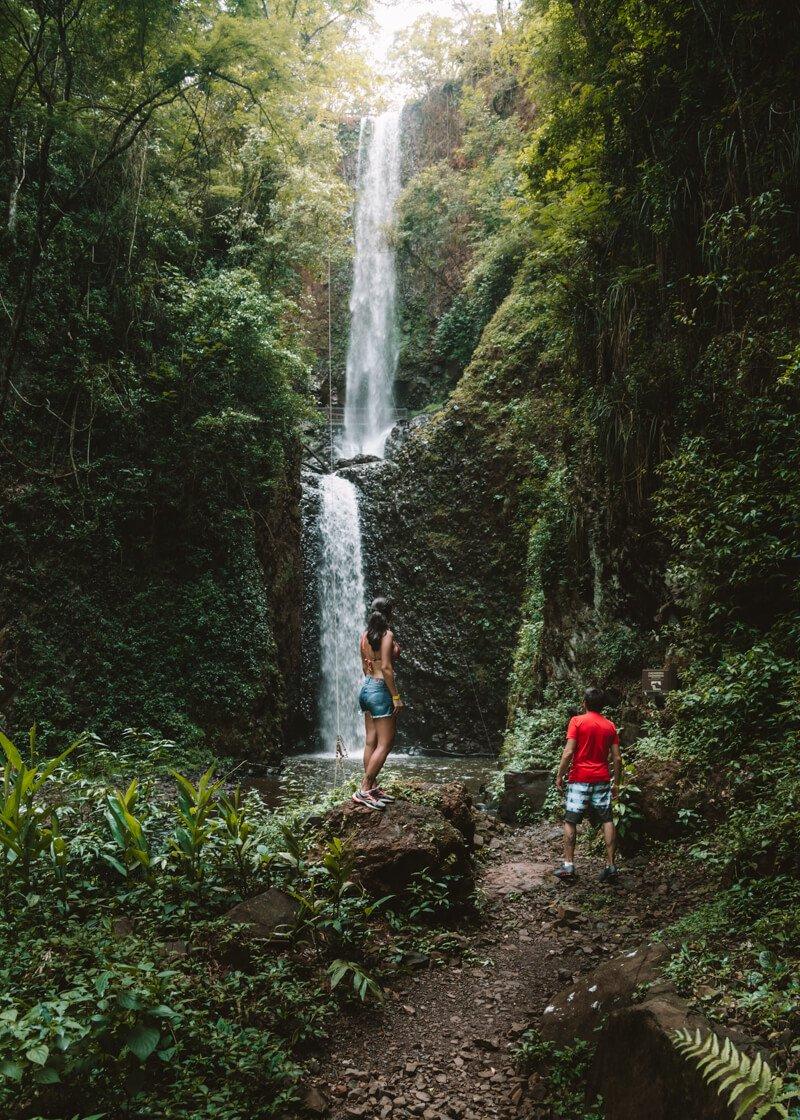 Cassorova Brotas - as duas quedas da cachoeira