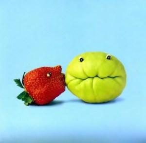 beijo salada de fruta