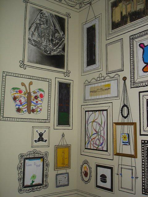 customizar quadros_molduras_desenhadas_parede