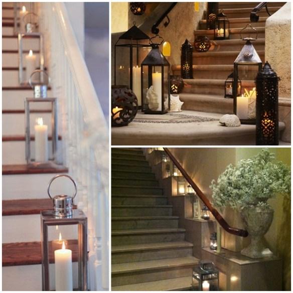 decoração de escadas_lanternas
