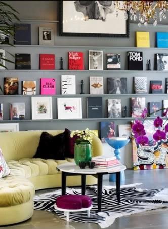 estante de livros_decoração_disposição de livros