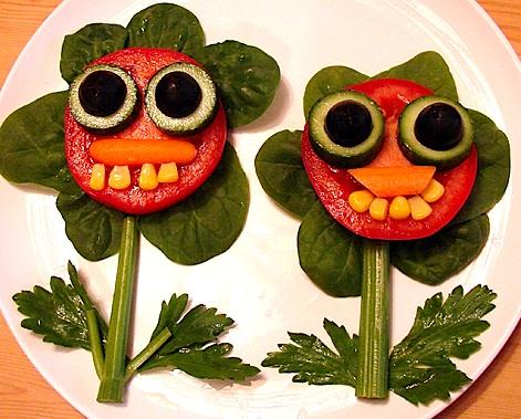 pratos engraçados para crianças