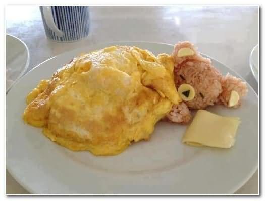 ursinho comida crianças