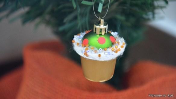 cupcake capsula de cafe bola de natal
