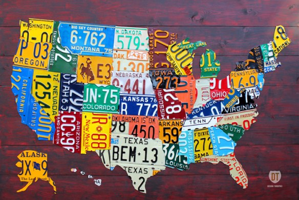 mapa com placas de carro