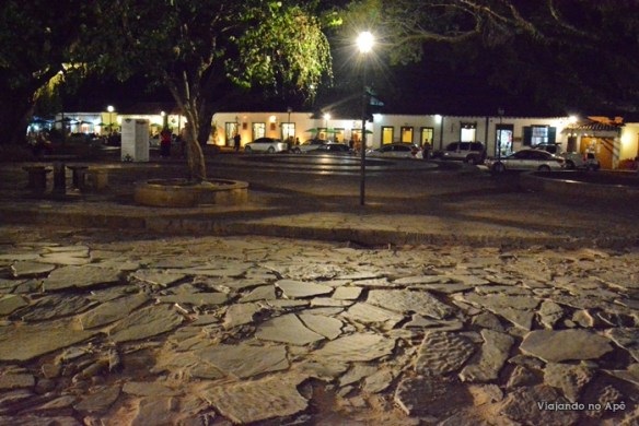 Largo das Forras noite Tiradentes Minas Gerais