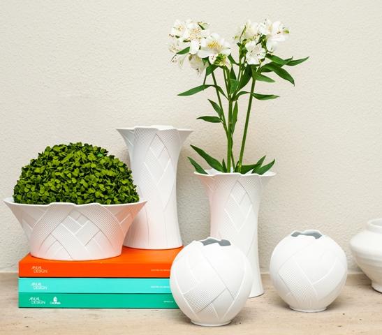 composicao vasos brancos decoracao
