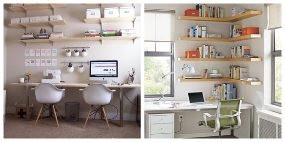 prateleiras home office organizaçao caixas