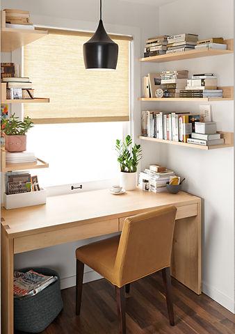 prateleiras home office pequeno