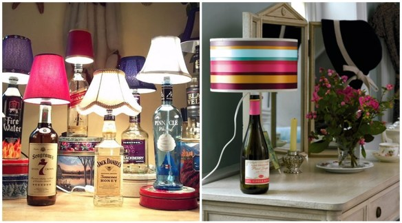 abajur luminarias garrafas diy faça voce mesmo ideias