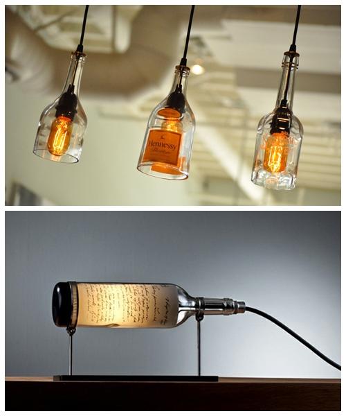 luminaria garrafas ideias criativas inspiraçoes
