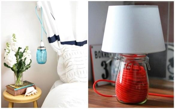 luminaria pote frasco vidro diy faça voce mesmo criatividade decoraçao