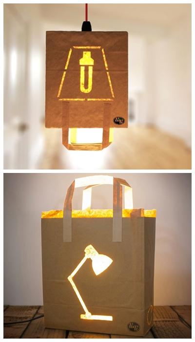 luminarias criativas papel