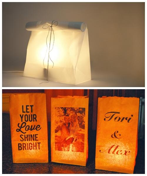luminarias papel criativas