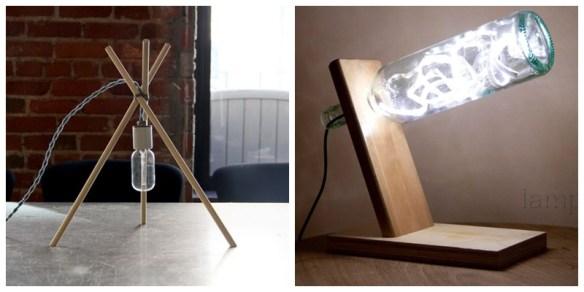 suporte madeira luminaria mesa criatividade faca voce mesmo diy