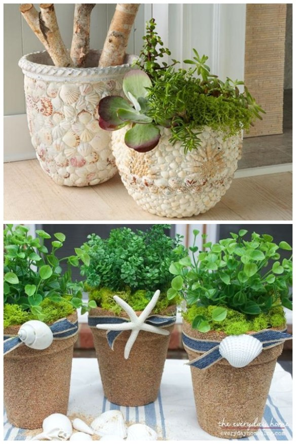 ideias-decoracao-revestimento-vasos-plantas-conchas-faca-voce-mesmo-diy
