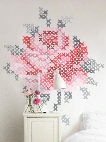 bordado-ponto-cruz-parede-pintura-decoracao-parede
