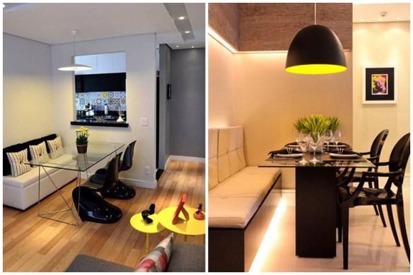 sala-de-jantar-pequena-mesa-com-banco-decoracao-amarelo-e-preto