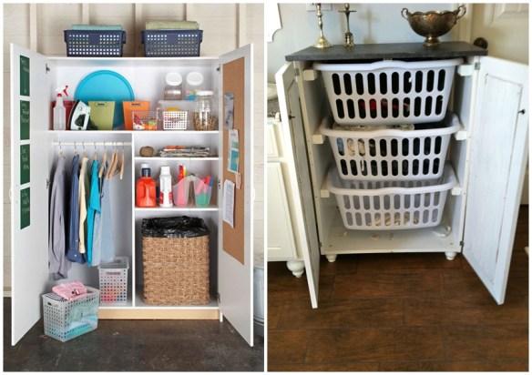cesto de roupa suja armario lavanderia area de servico ideias 2