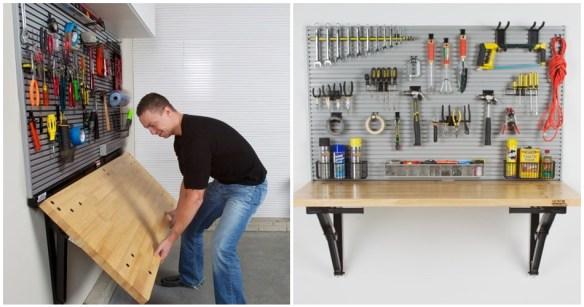 mesa dobravel suspensa ferramentas garagem